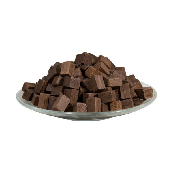 Дубовые кубики (сильный обжиг) 15X15мм, 100 гр