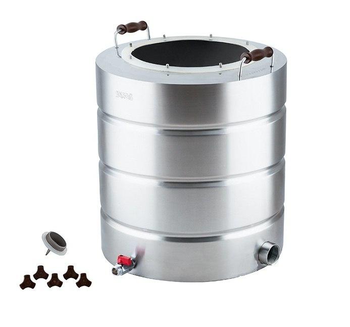 Перегонный куб 51 литр с широким горлом (нерж)